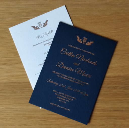 Foil Wedding Invites