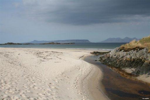 Beach Overlooking Eigg & Rum